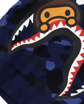 Color Camo Milo Shark Hoodie
