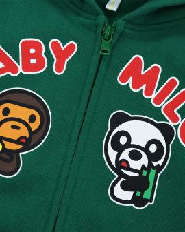 Baby Milo Panda Zip Hoodie