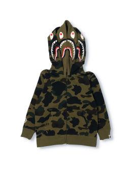 1st Camo Shark Zip Double Hood Jacket