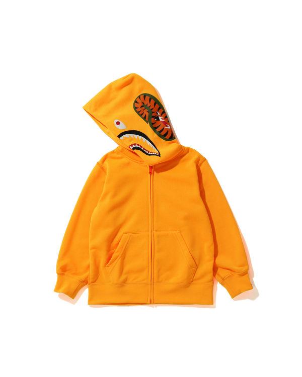 Neon Shark zip hoodie