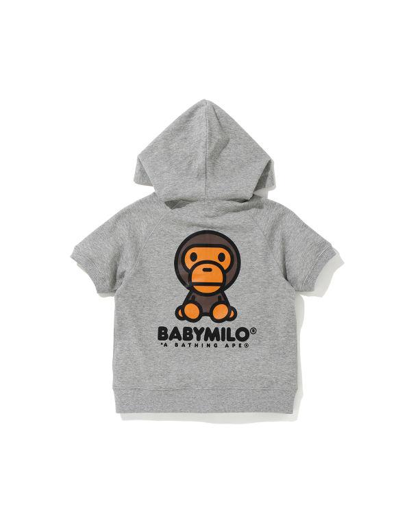 Baby Milo short sleeve zip hoodie
