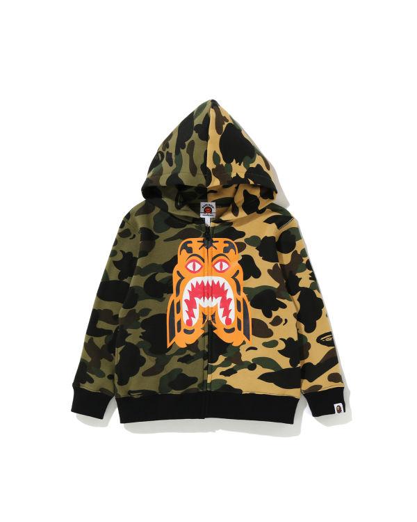 1st Camo Half Tiger zip hoodie