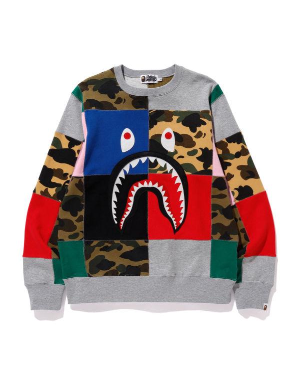 Patchwork Shark sweatshirt