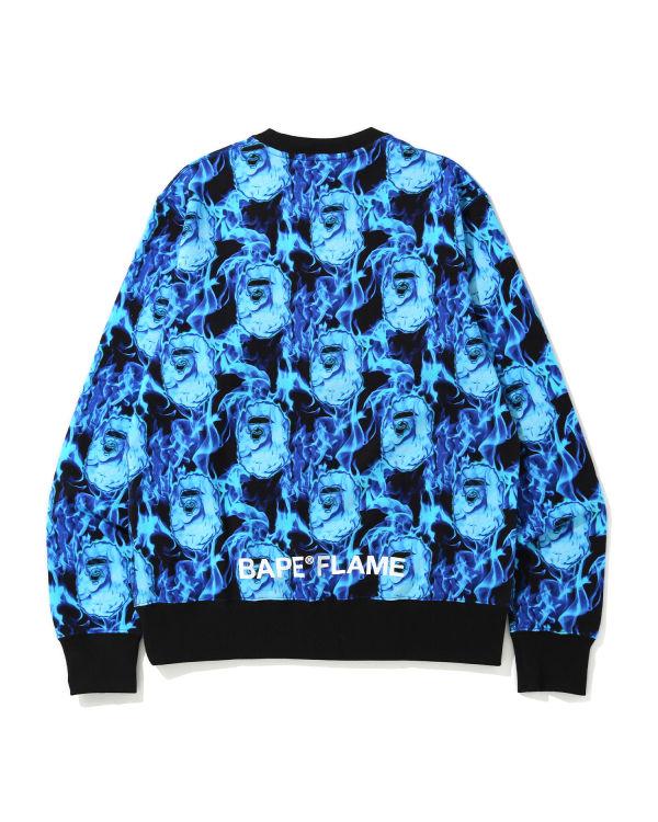 Bape Flame wide sweatshirt