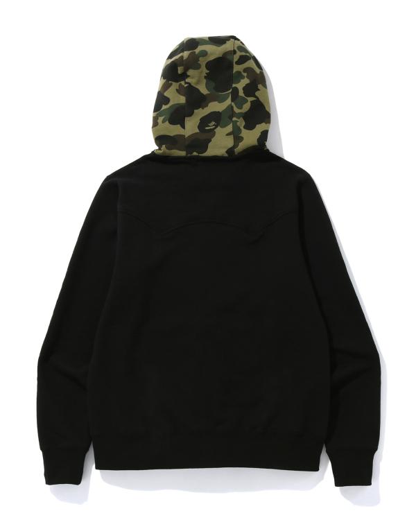 A Bathing Ape embroidery zip hoodie