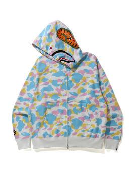 New Multi Camo Shark Relaxed zip hoodie