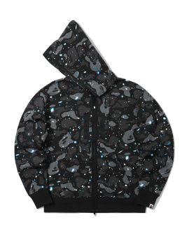 Relaxed Space Camo full zip hoodie