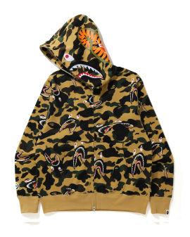 Shark 1st Camo Shark Relaxed zip hoodie