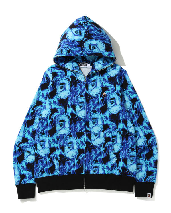 Bape Flame zip hoodie
