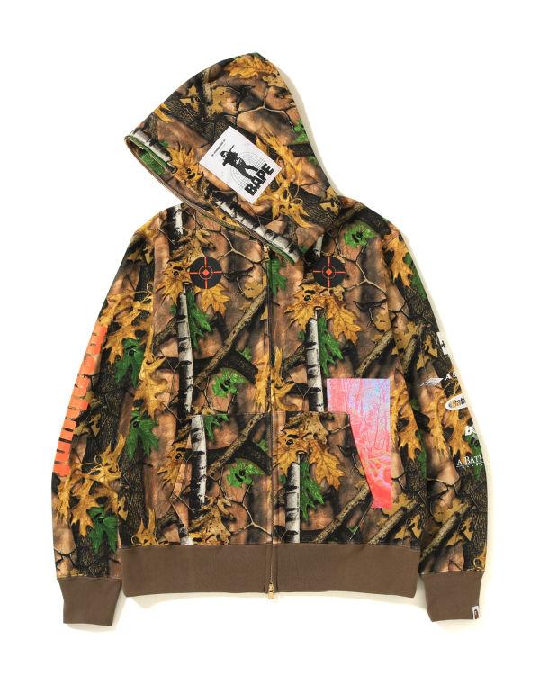 Forest Camo full zip hoodie