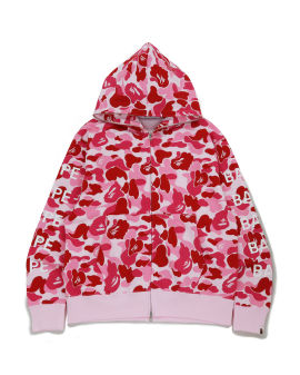 Big ABC Camo Bape Relaxed zip hoodie