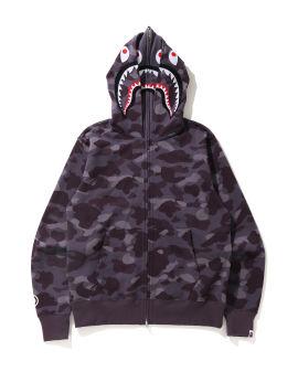 Color Camo Shark Full Zip hoodie