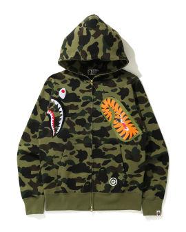 1st Camo Multi Shark Full zip hoodie