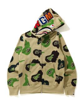 Def Camo Shark Full Zip hoodie