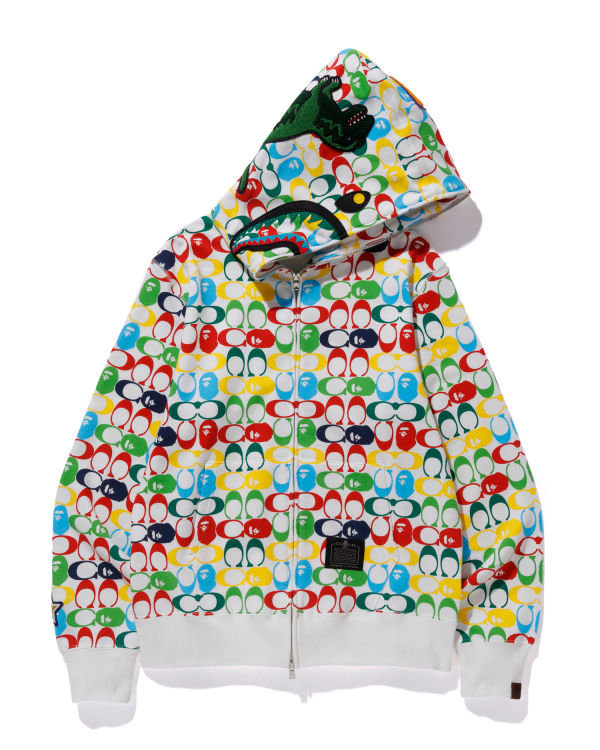 X Coach Shark full zip hoodie
