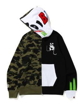 1st Camo Ape Panda Half hoodie