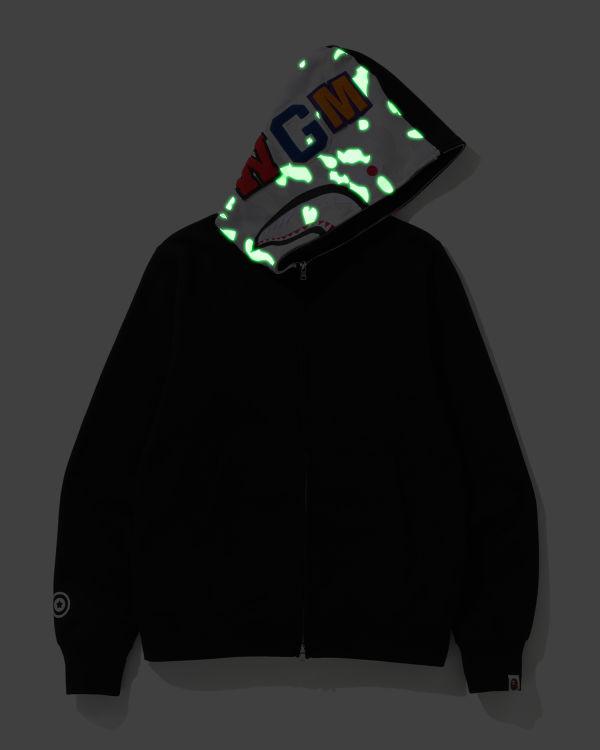 City Camo Shark zip hoodie