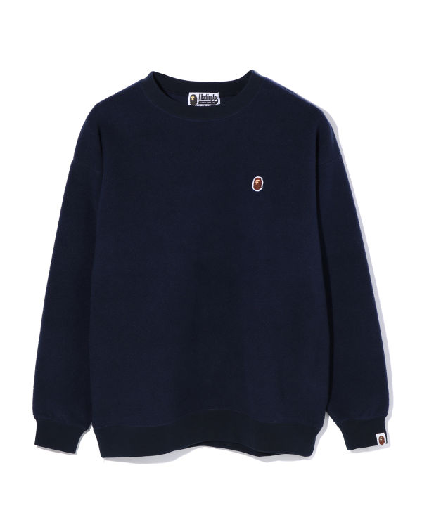 Fleece one point oversize sweatshirt