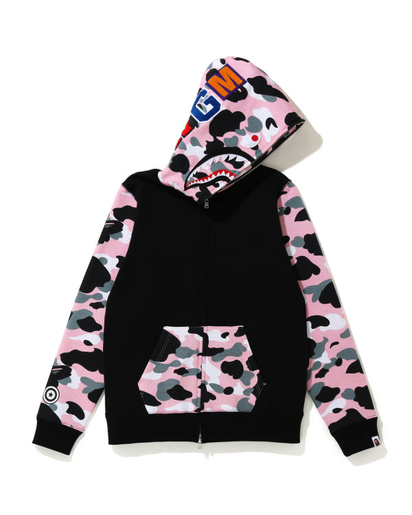 Warm Up Camo Shark zip hoodie