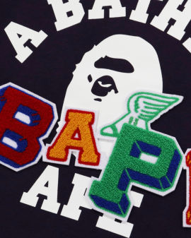 Bape patched puff sleeve Sweatshirt