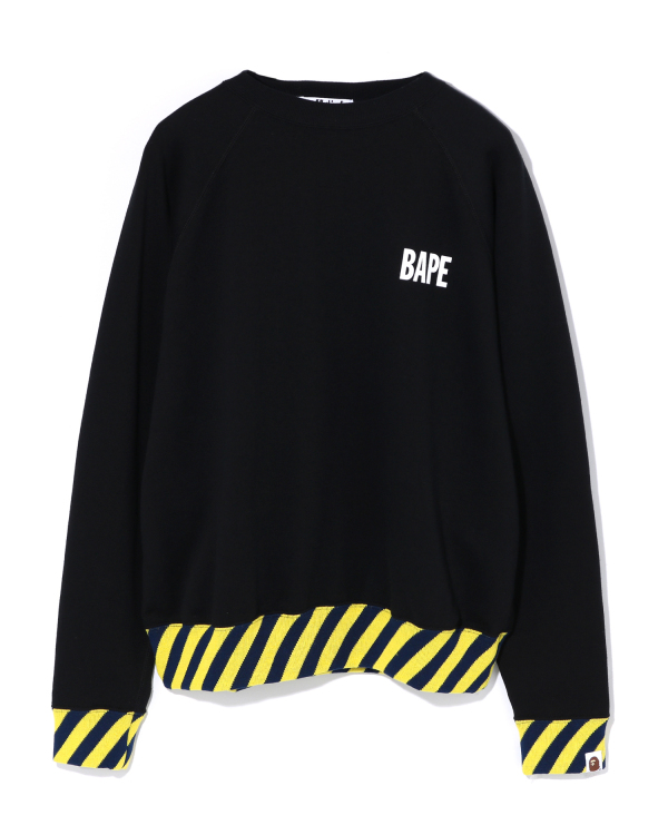 Stripe Rib Wide sweatshirt