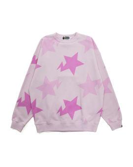 Sta Pattern Oversized Crewneck Sweater