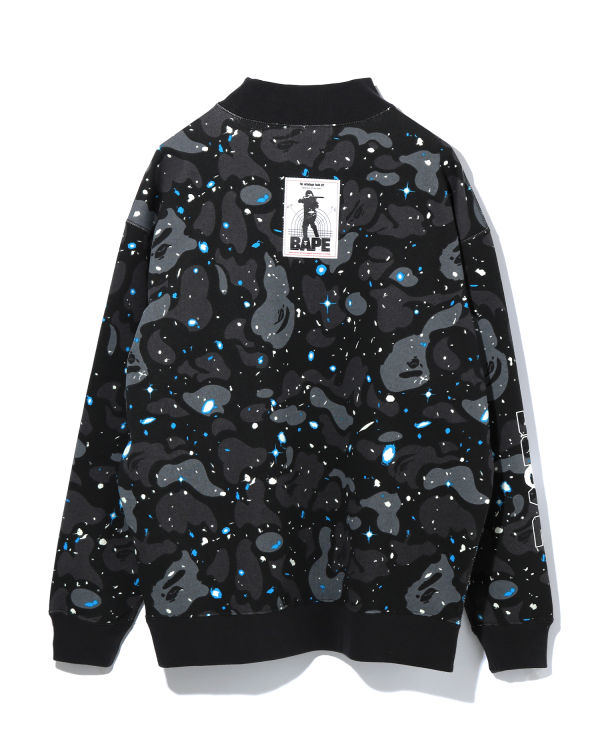 Space Camo mock neck sweatshirt