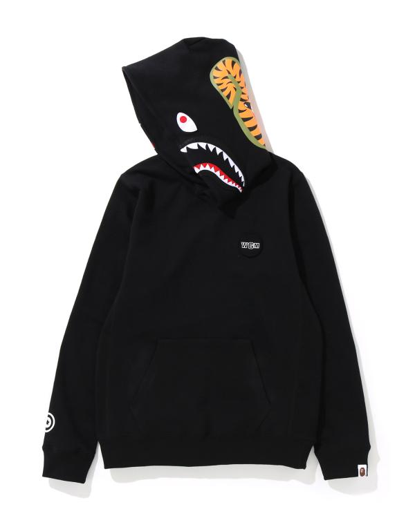 Shark print hoodie