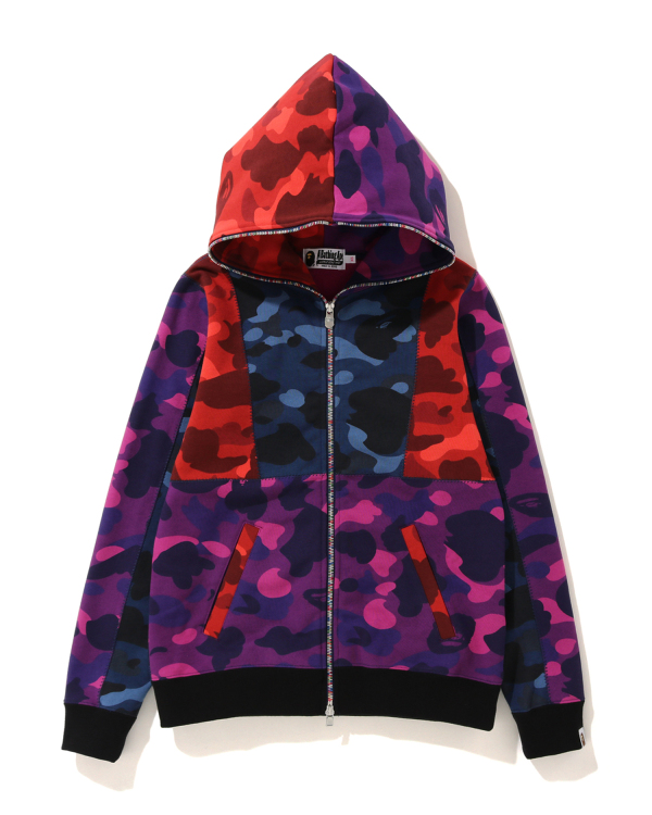 Crazy Color Camo full zip hoodie