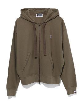 Ape Head One Point Wide Zip hoodie
