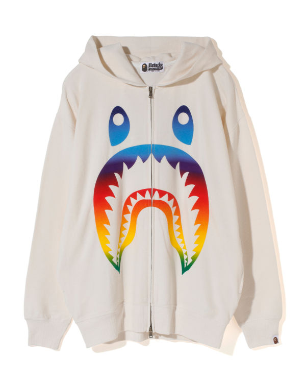 Rainbow Shark oversized zip hoodie