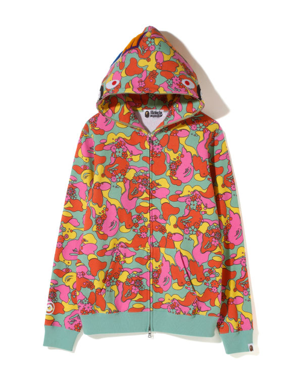 ABC Flower Shark zip hoodie