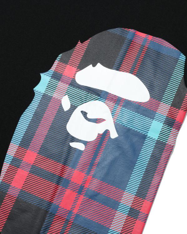 Bape Check Side Big Ape Head tee
