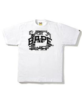 Stripe ABC Camo Bape Logo tee