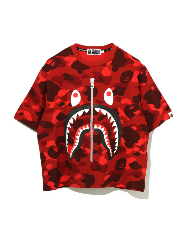 Color Camo Reflector Shark tee