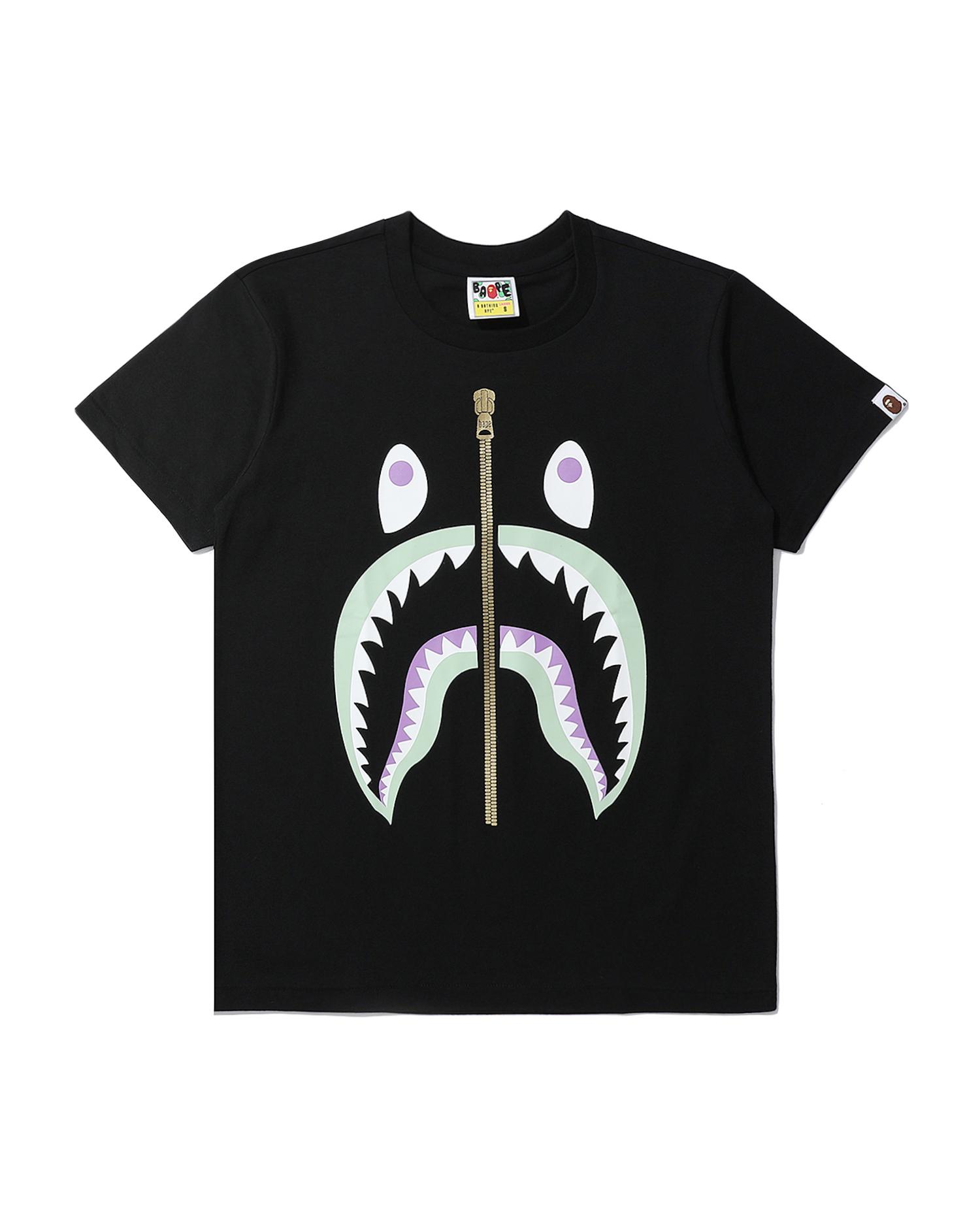 A BATHING APE   Colour Shark Tee   Goxip