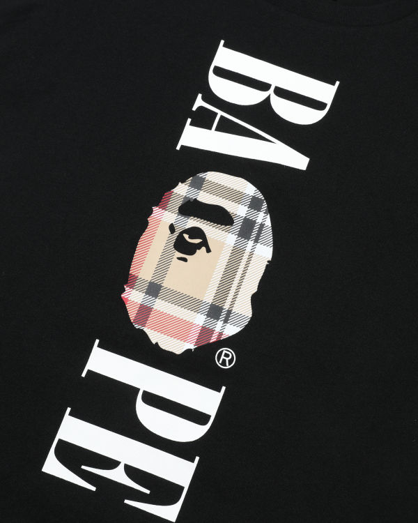 Bape Check logo tee