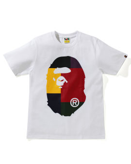 Color Block  Big Ape Head tee