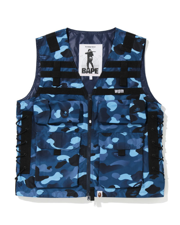 Gradation Camo lace-up vest