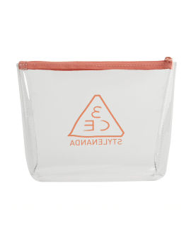 Clear trapeze pouch