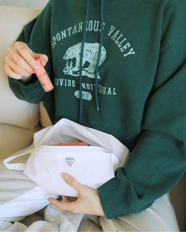 Airy Nylon Small  pouch #White