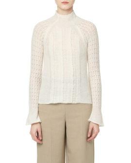 Mockneck knit sweater