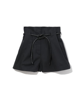 Origami-pleated shorts