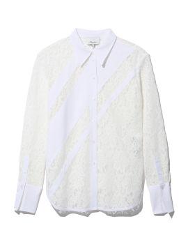 Lace panelled shirt