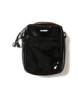 PVC patched shoulder bag