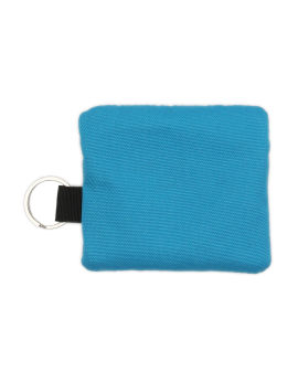 Logo zip coin purse with keyring