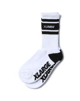 Lined logo socks