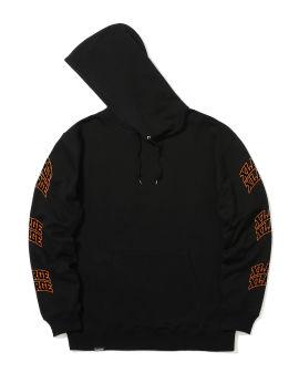 Logo print sleeve hoodie