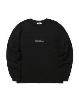 Panelled slogan sweatshirt
