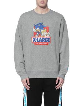 X Sonic the Hedgehog graphic logo sweatshirt